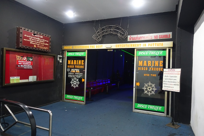 Entrance to Marine Disco Pattaya