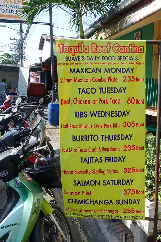 Tequila Reef Pattaya Lunch Specials