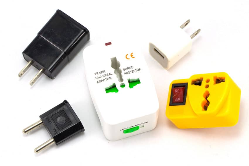 Various Travel adapters and Thailand power plugs