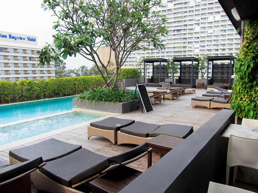 Sun loungers at Page 10 hotel Pool
