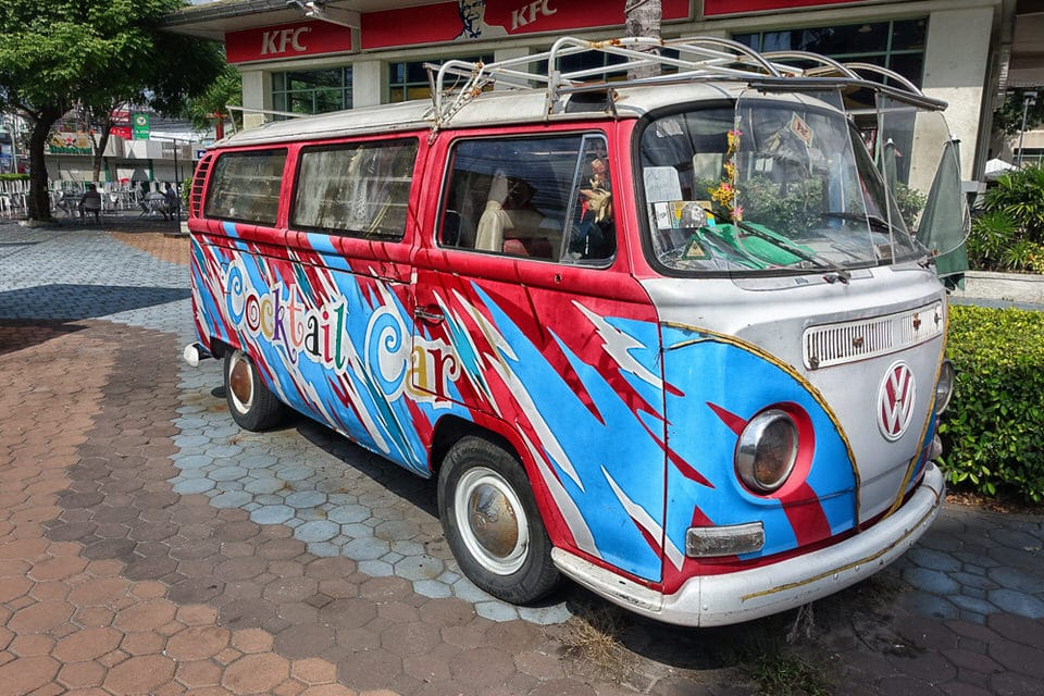 Cocktail Car outside Central Center Pattaya