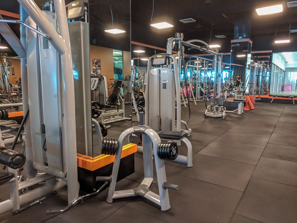 Photo of exercise machines inside Coco Fitness in Pattaya