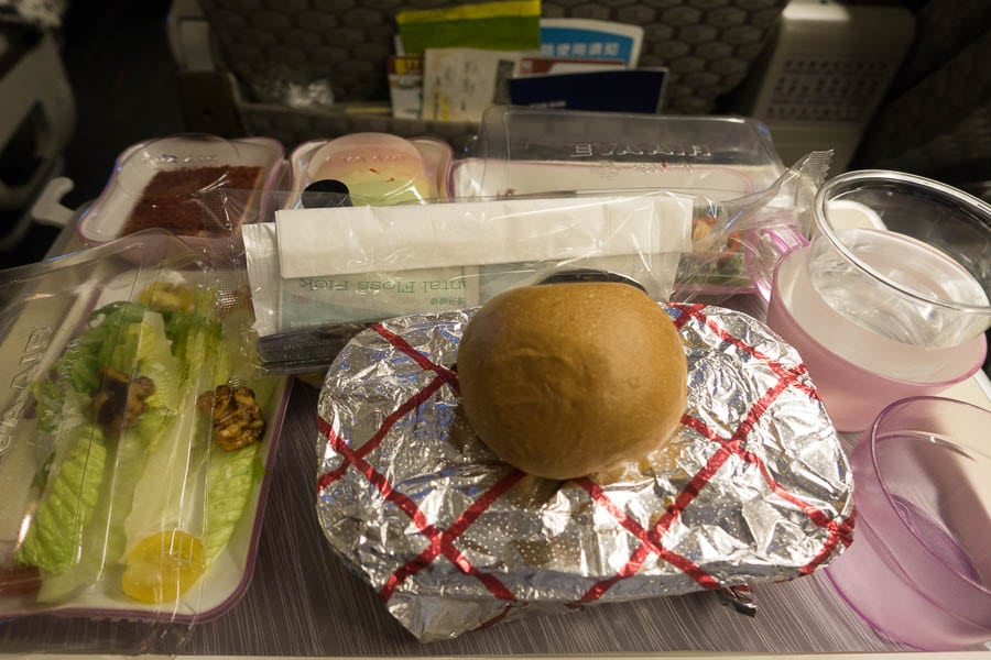 Dinner on EVA Air Elite Class
