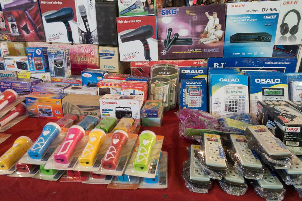 Items for sale at Soi Buakhao Market Pattaya