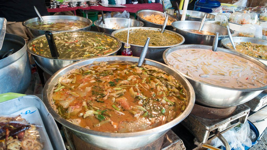 Thai Food at Soi Buakhao Market Pattaya
