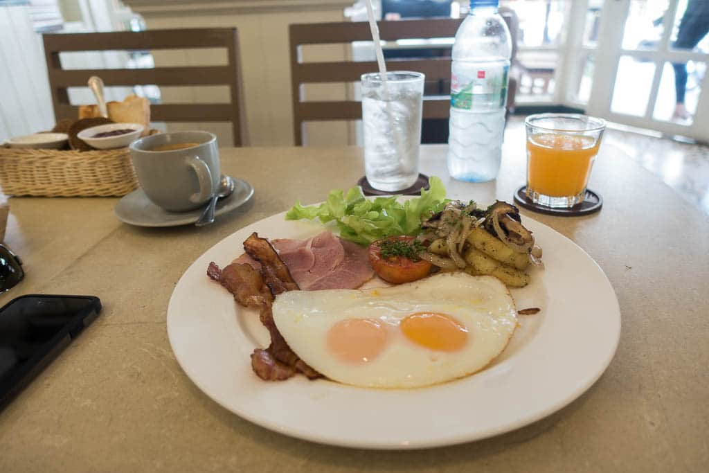 Breakfast at Loaf Bakery and Cafe on Soi Lengkee Pattaya