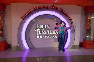 The Joker outside Louis Tussaud's Wax Works in Pattaya Thailand