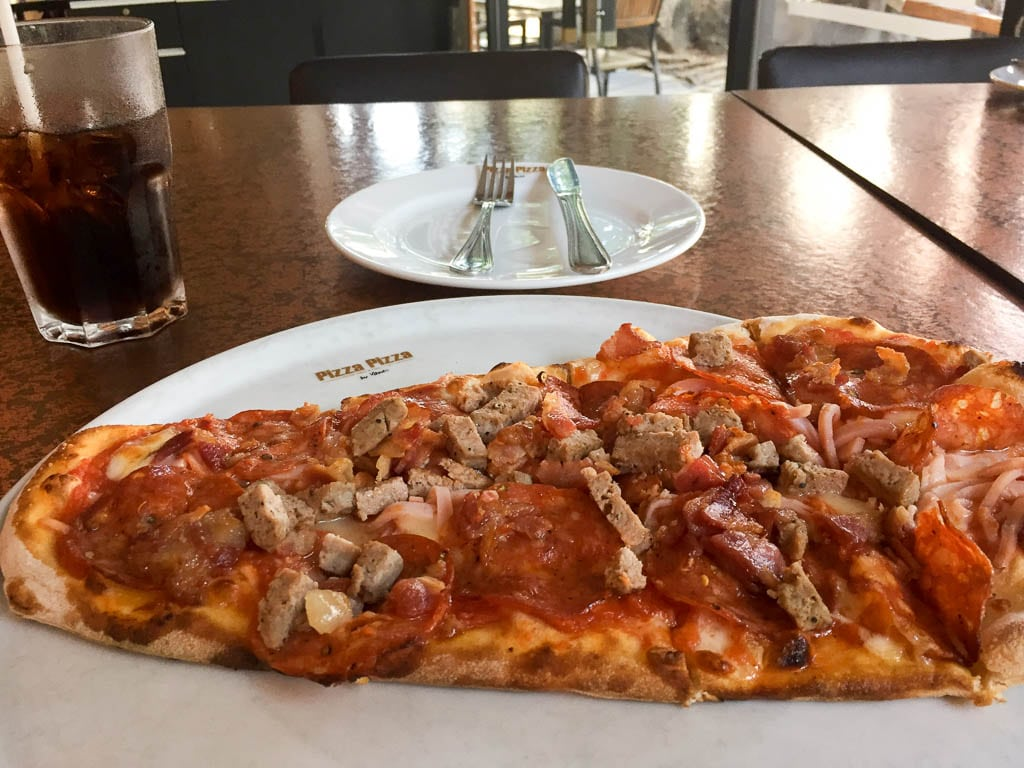 Image of large slice of pizza at Pizza Pizza by Yanee at Pattaya Avenue Mall, Thailand