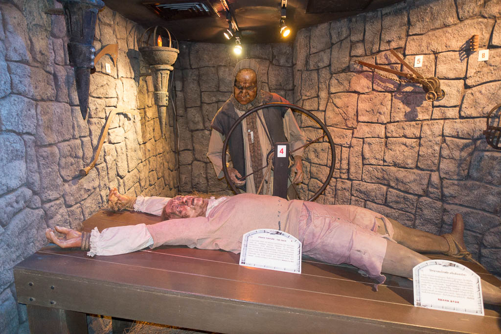 Medieval Torture Devices at Ripley's Pattaya, Thailand