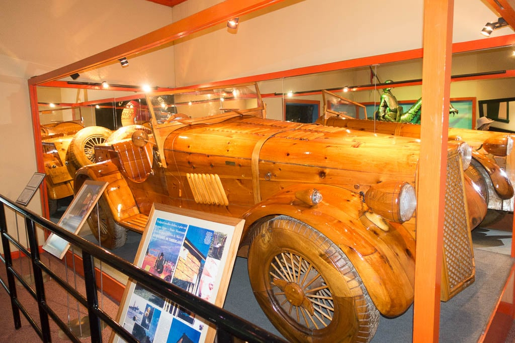 Image of a wooden car at Ripley's Pattaya, Thailand
